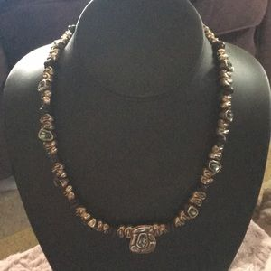 Stunning Unode50 leather/alloy/crystal choker